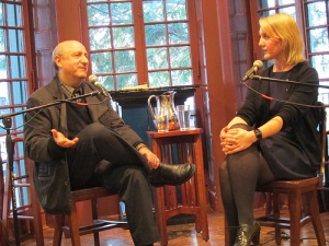With Anthony DeCurtis at Kelly Writers House.